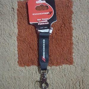 *NWT Dodge leather key chain